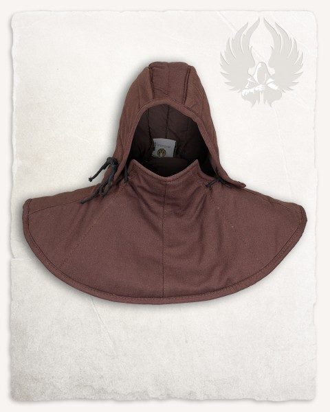 Aulber padded collar with coif canvas brown