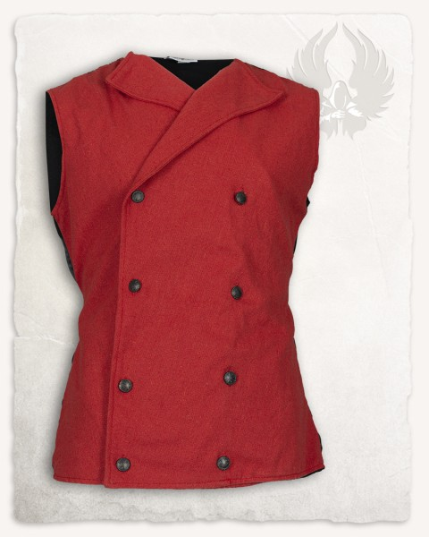 Hamish vest canvas red