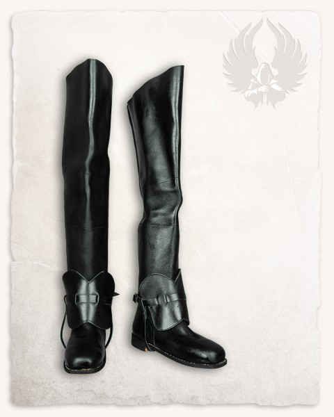 Porthos musketeer boots black
