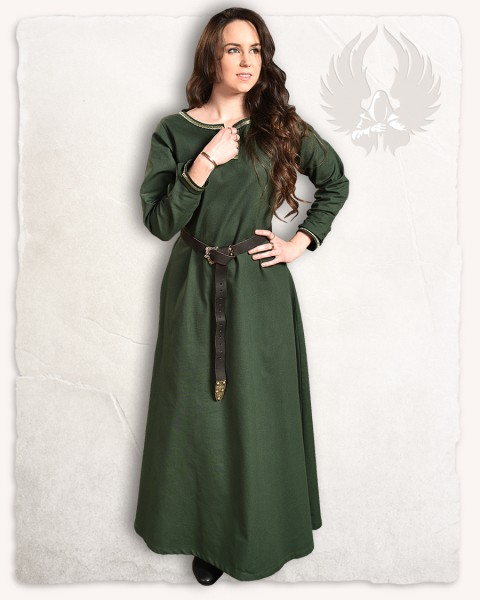 Heloise dress dark green