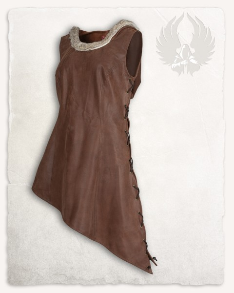 Freya hooded dress brown