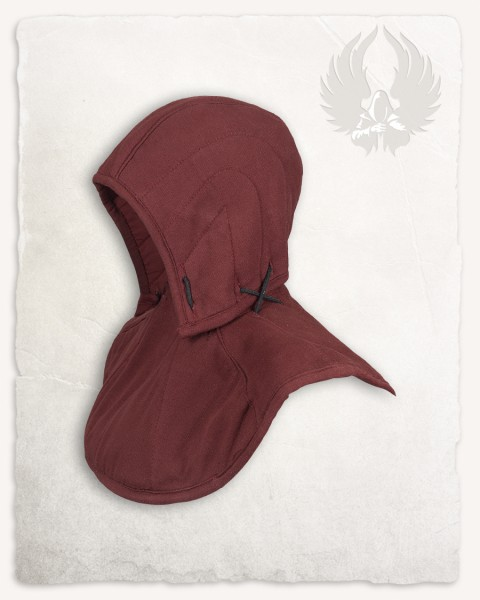 Arthur padded gorget with hood canvas bordeaux Limited Edition