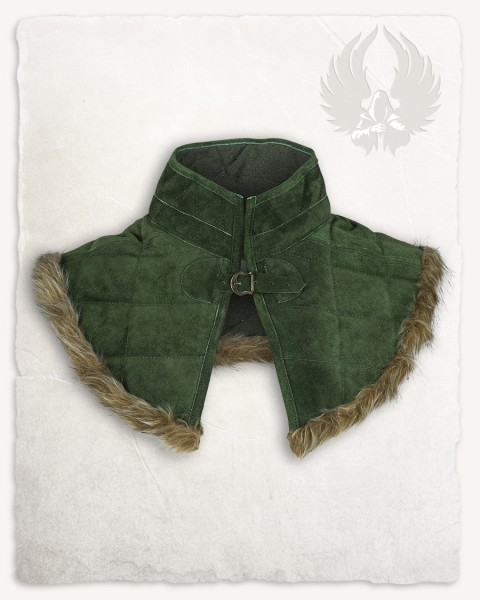 Nimue lined gorget suede green
