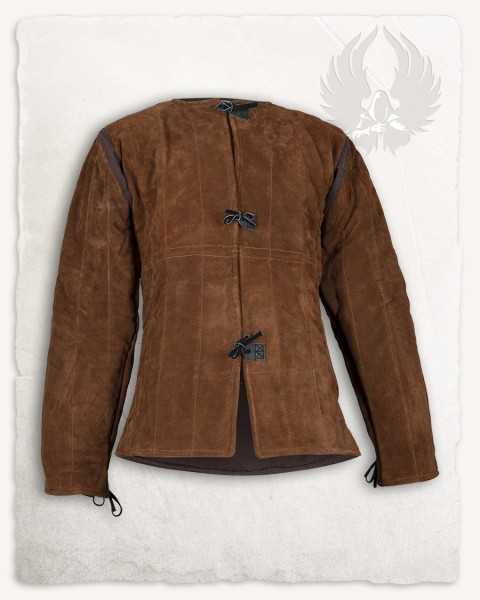 Aulber gambeson jacket suede light brown