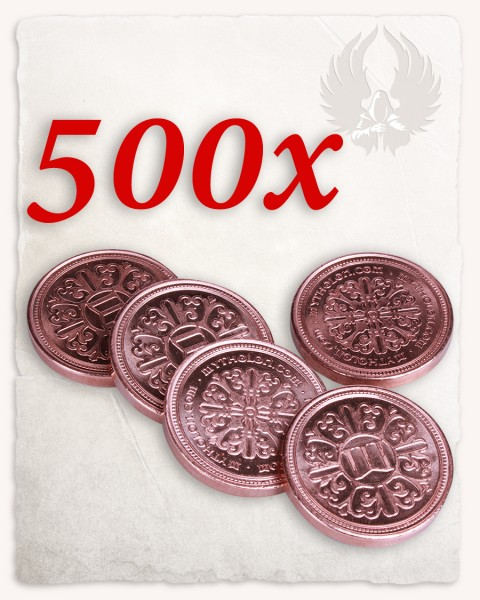 Set da 500 monete da LARP color rame