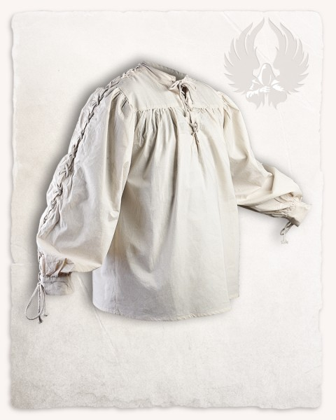 Alex shirt stitched eyelet cream