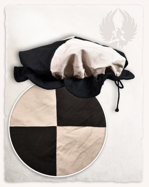 Joerg beret canvas black/cream