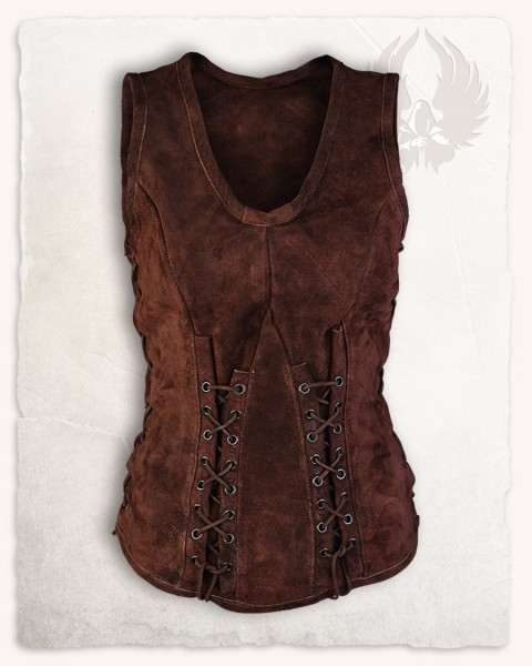 Sarina leather bodice brown