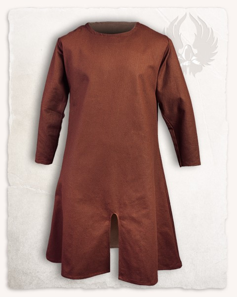 Wolfram long tunic cotton brown