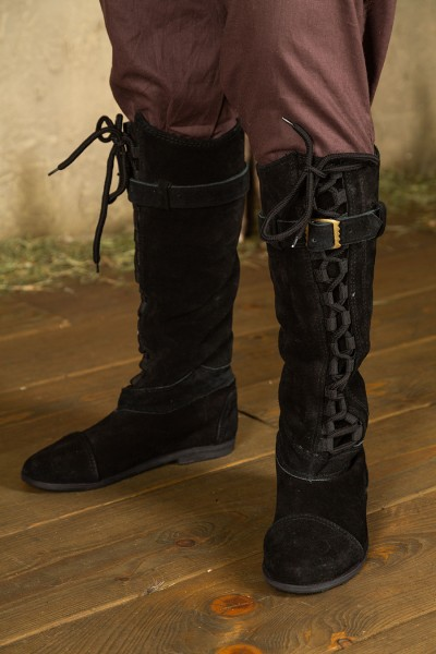 Taras lace-up boots suede black