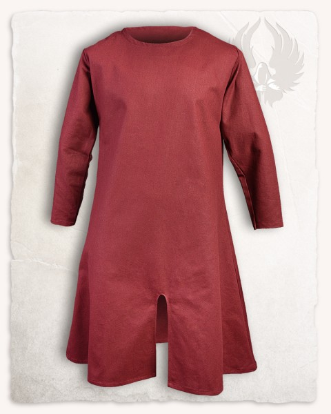 Wolfram long tunic cotton bordeaux