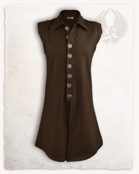 Tilly vest wool brown