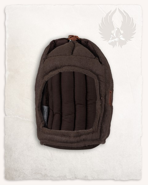 Aulber padded coif closed linen brown