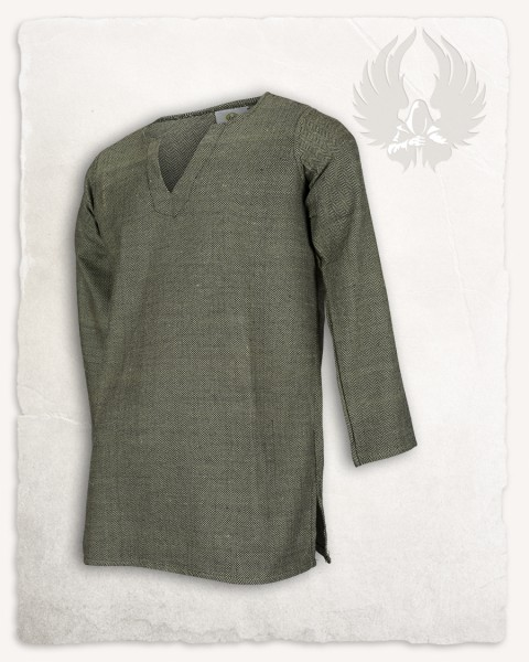 Tronde tunic herringbone olive-green Limited Edition