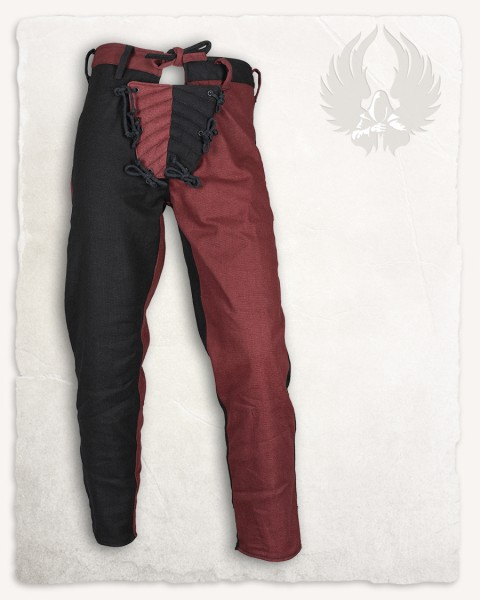 Gustav pants black/bordeaux