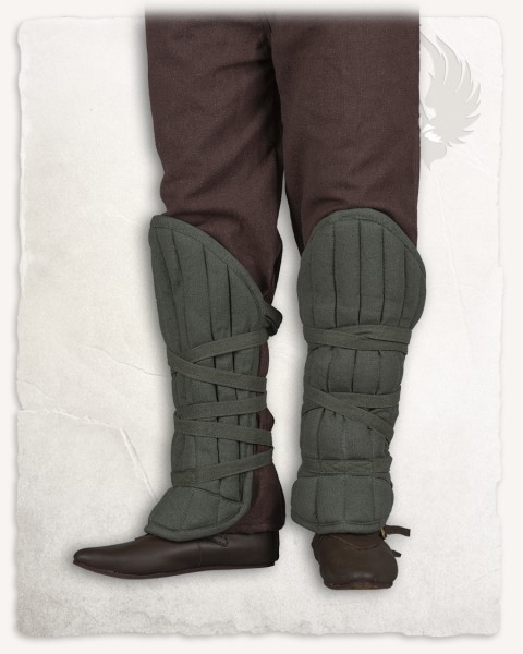 Farald padded greaves olive-green Limited Edition
