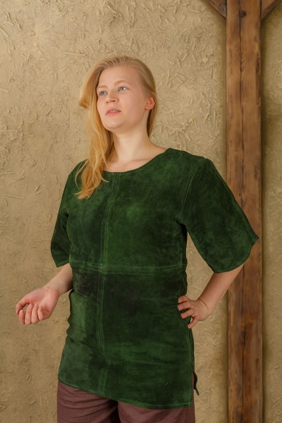 Godwin tunic suede green LIMITED EDITION