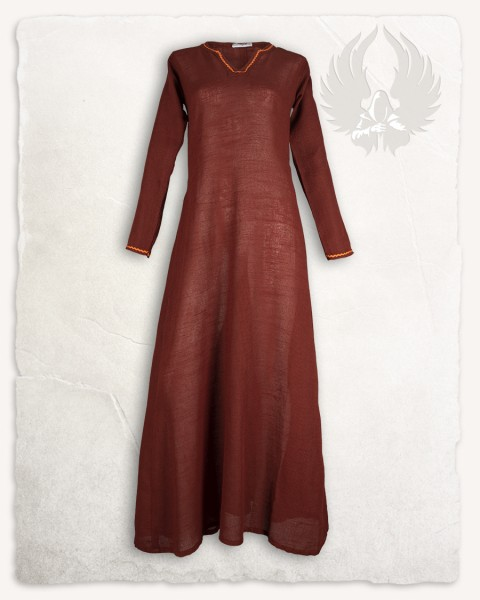 Rikke dress linen copper/orange LIMITED EDITION
