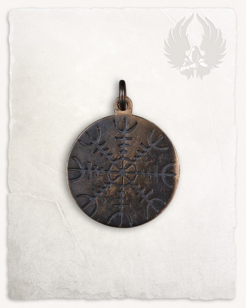 Yrsa pendant with runes bronze