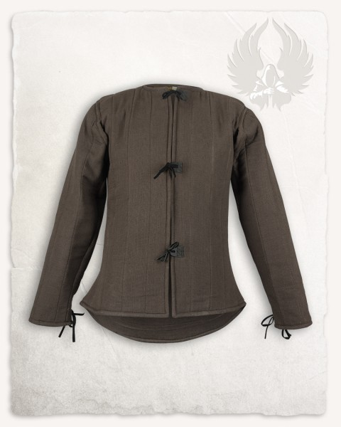 Aulber gambeson jacket linen brown