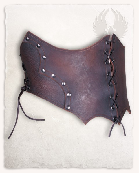 Maren leather bodice brown