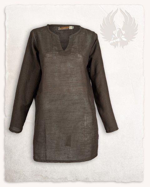 Tronde tunic linen brown