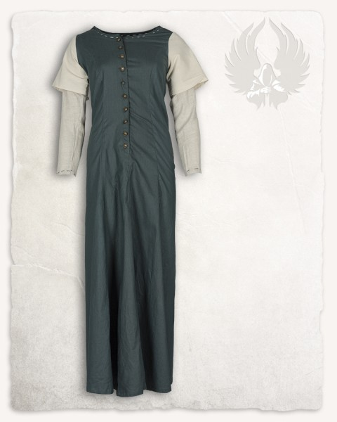 Elodie dress green/cream