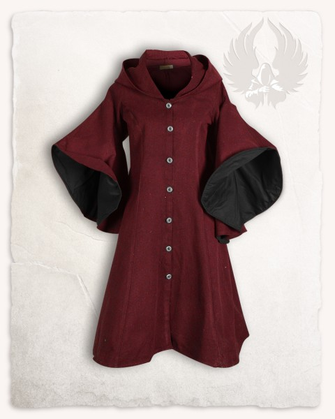 Lilian coat black/bordeaux