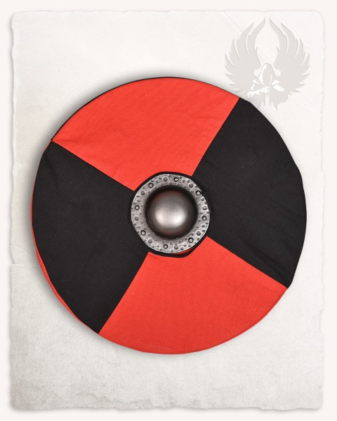 Rorrik round shield with shieldcover black/red