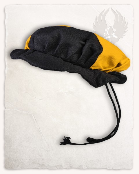 Joerg beret canvas black/yellow