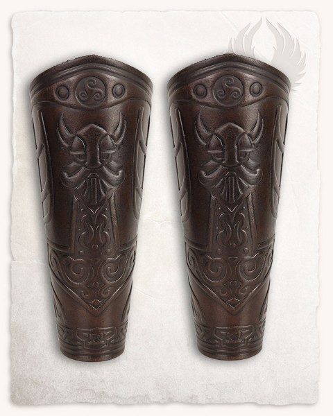 Ragnarok Thor leather bracers brown