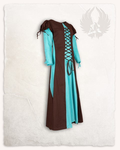 Rebecka dress light brown/turquoise