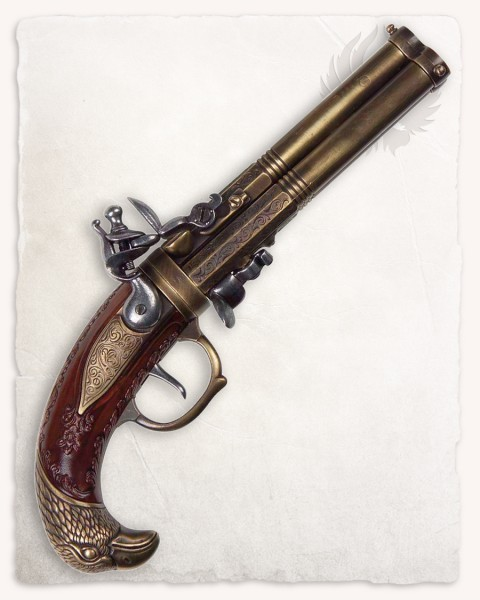 Edward Low three barreled pistole
