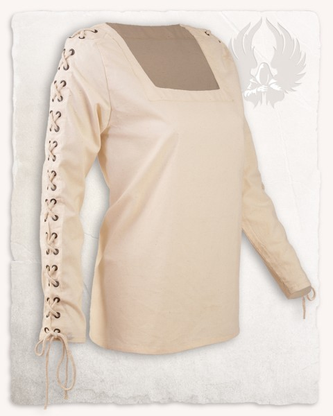 Abby blouse metal eyelets cream