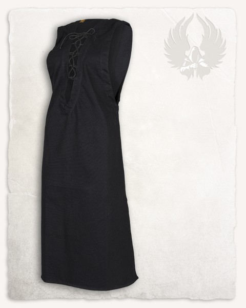 Lenora sleeveless tunic premium canvas black