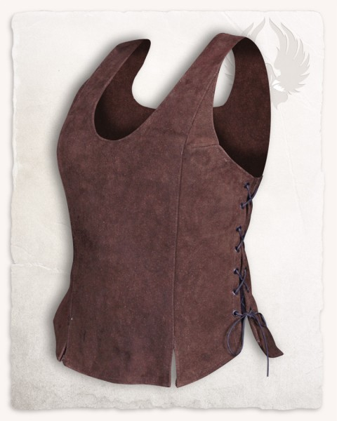Lisa leather bodice brown