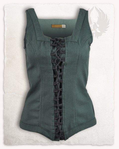 Ursula bodice canvas green
