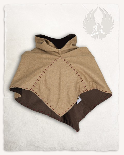 Halaif hood wool sand/brown